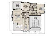 Contemporary Style House Plan - 3 Beds 3 Baths 2500 Sq/Ft Plan #51-587 Floor Plan - Main Floor