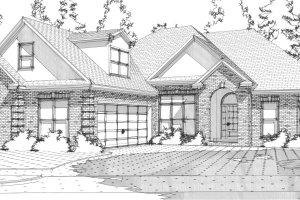 European Exterior - Front Elevation Plan #63-300