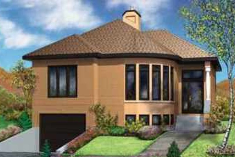 Contemporary Style House Plan - 2 Beds 1 Baths 1643 Sq/Ft Plan #25-320 Exterior - Front Elevation
