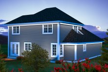 Dream House Plan - Traditional Exterior - Rear Elevation Plan #70-1163