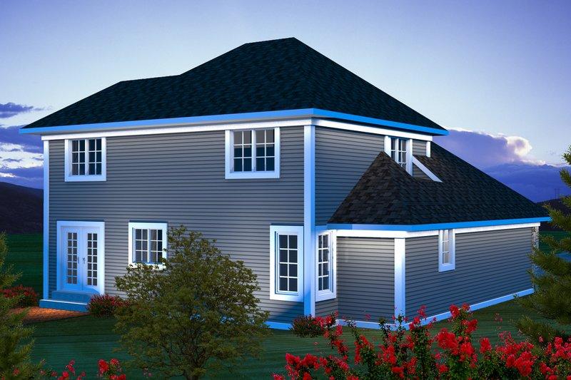 Traditional Exterior - Rear Elevation Plan #70-1163 - Houseplans.com