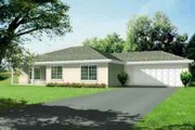 Adobe / Southwestern Style House Plan - 3 Beds 2 Baths 1460 Sq/Ft Plan #1-1259 Exterior - Front Elevation