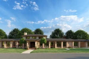 Contemporary Exterior - Front Elevation Plan #923-188