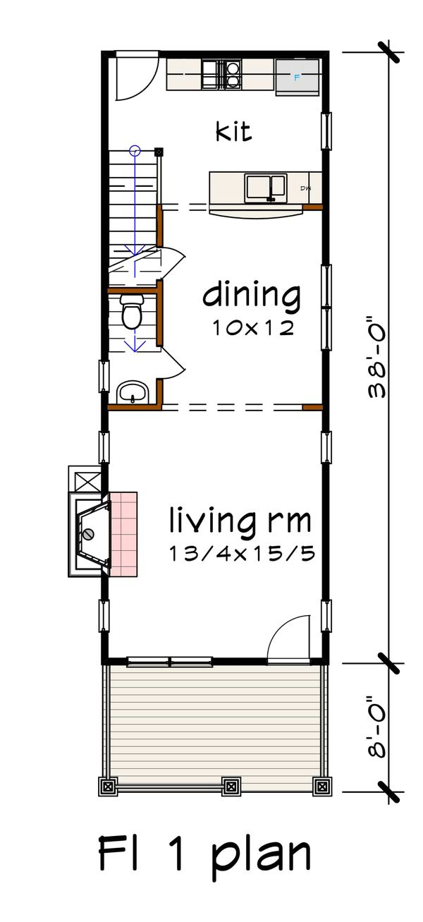 Craftsman Floor Plan - Main Floor Plan #79-278