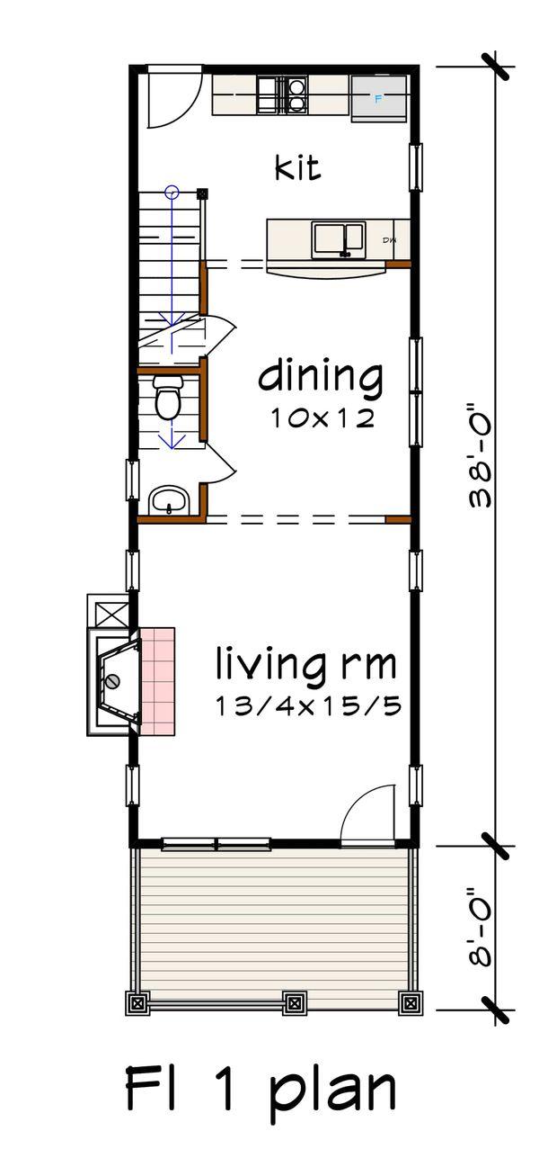 Craftsman Floor Plan - Main Floor Plan Plan #79-278