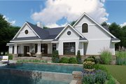 Farmhouse Style House Plan - 3 Beds 2.5 Baths 2787 Sq/Ft Plan #120-257 Exterior - Rear Elevation