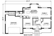 Traditional Style House Plan - 3 Beds 2.5 Baths 2252 Sq/Ft Plan #414-108 Floor Plan - Main Floor