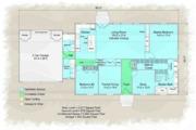 Colonial Style House Plan - 4 Beds 3 Baths 2892 Sq/Ft Plan #489-9 Floor Plan - Main Floor Plan