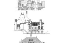 European Exterior - Rear Elevation Plan #119-169