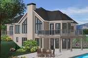 Contemporary Style House Plan - 2 Beds 2 Baths 1400 Sq/Ft Plan #23-873 Exterior - Front Elevation