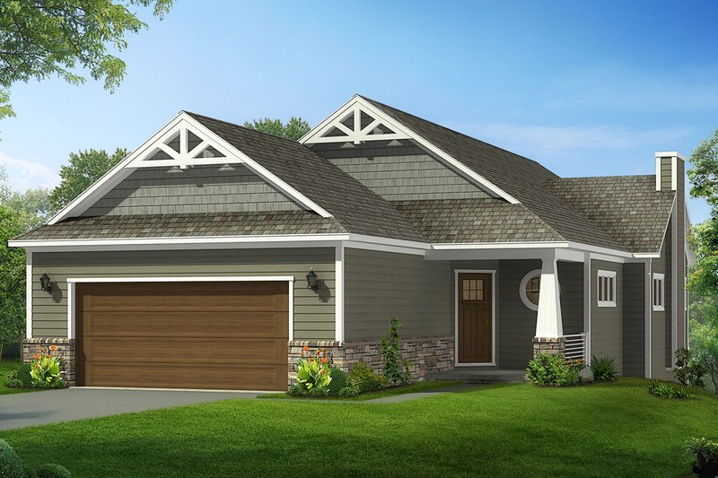 House Plan Design - Craftsman Exterior - Front Elevation Plan #1057-16