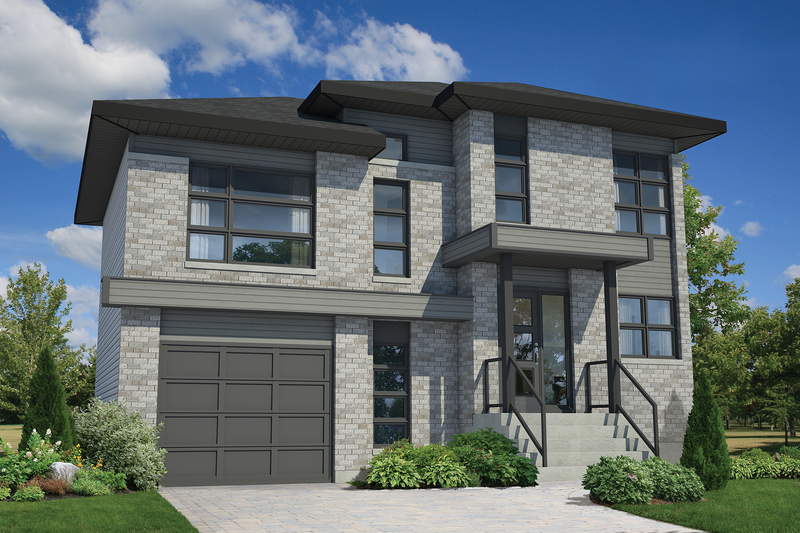 Contemporary Style House Plan - 3 Beds 1 Baths 1607 Sq/Ft Plan #25-4347 Exterior - Front Elevation