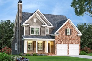 Home Plan - Traditional Exterior - Front Elevation Plan #419-227