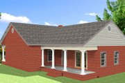 Traditional Style House Plan - 3 Beds 2 Baths 1485 Sq/Ft Plan #44-185 Exterior - Rear Elevation