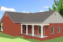 Dream House Plan - Traditional Exterior - Rear Elevation Plan #44-185