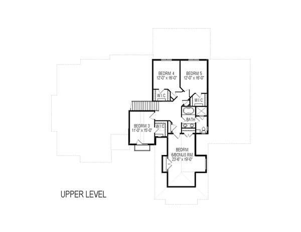 European Floor Plan - Upper Floor Plan Plan #920-87