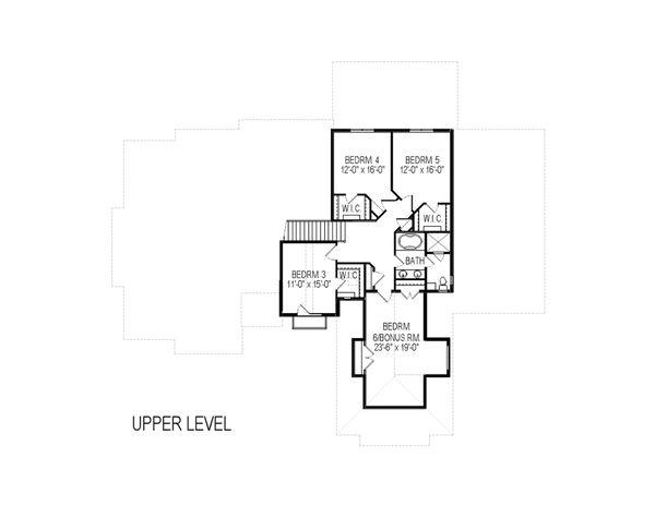 European Floor Plan - Upper Floor Plan Plan #920-87