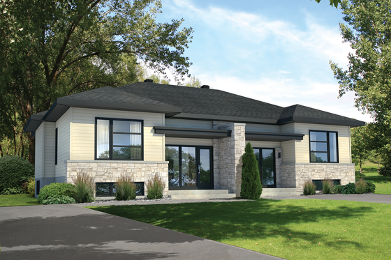 Contemporary Exterior - Front Elevation Plan #25-4352