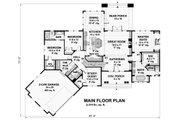 Craftsman Style House Plan - 4 Beds 3 Baths 2374 Sq/Ft Plan #51-569 Floor Plan - Main Floor