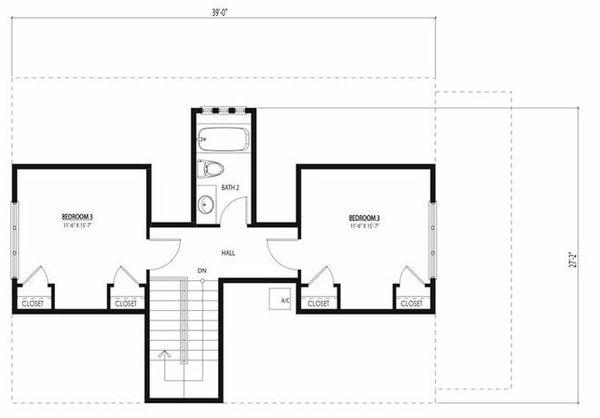 Beach Floor Plan - Upper Floor Plan Plan #443-12
