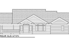 Home Plan - Traditional Exterior - Rear Elevation Plan #70-1002