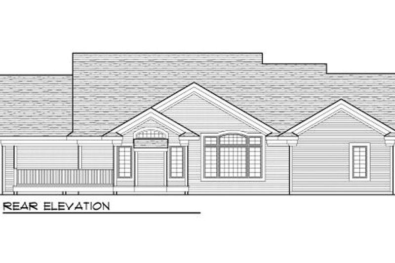 Traditional Exterior - Rear Elevation Plan #70-1002 - Houseplans.com