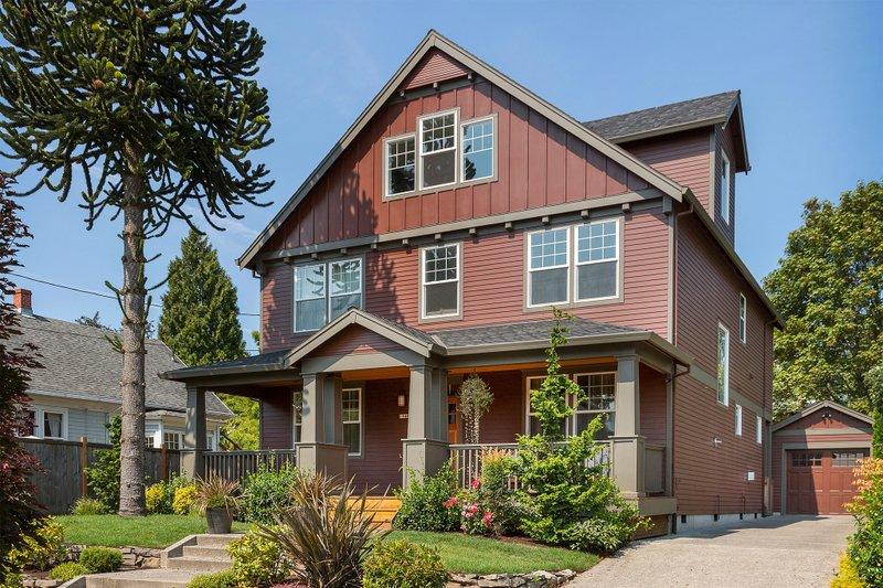 Home Plan - Craftsman Exterior - Front Elevation Plan #48-489