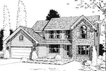 House Plan Design - Traditional Exterior - Front Elevation Plan #20-747