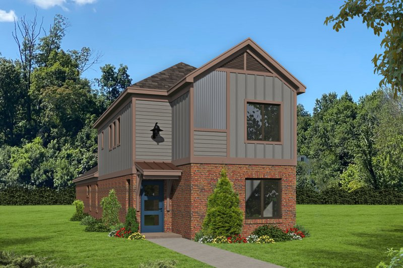 House Plan Design - Traditional Exterior - Front Elevation Plan #932-398