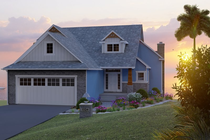 House Design - Beach Exterior - Front Elevation Plan #1064-97