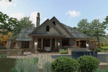 House Plan Design - Craftsman Exterior - Rear Elevation Plan #120-193