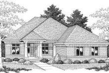 House Plan Design - European Exterior - Front Elevation Plan #70-593