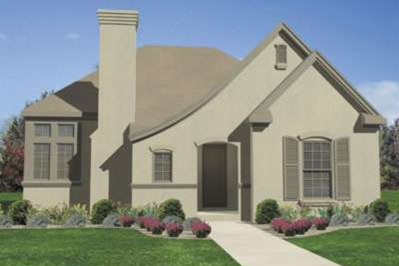 European Exterior - Front Elevation Plan #410-339 - Houseplans.com