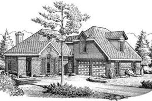 European Exterior - Front Elevation Plan #410-304