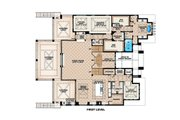 Beach Style House Plan - 4 Beds 4.5 Baths 13562 Sq/Ft Plan #27-488 Floor Plan - Main Floor