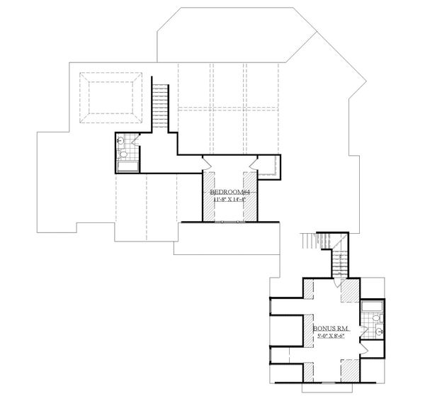 Farmhouse Floor Plan - Upper Floor Plan Plan #1071-7