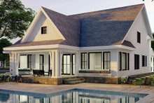 House Plan Design - Farmhouse Exterior - Rear Elevation Plan #51-1168