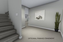 House Plan Design - Optional Basement Hall