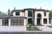 Classical Style House Plan - 4 Beds 3.5 Baths 4327 Sq/Ft Plan #1066-18 Exterior - Front Elevation