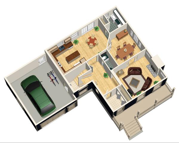 Country Floor Plan - Main Floor Plan #25-4468