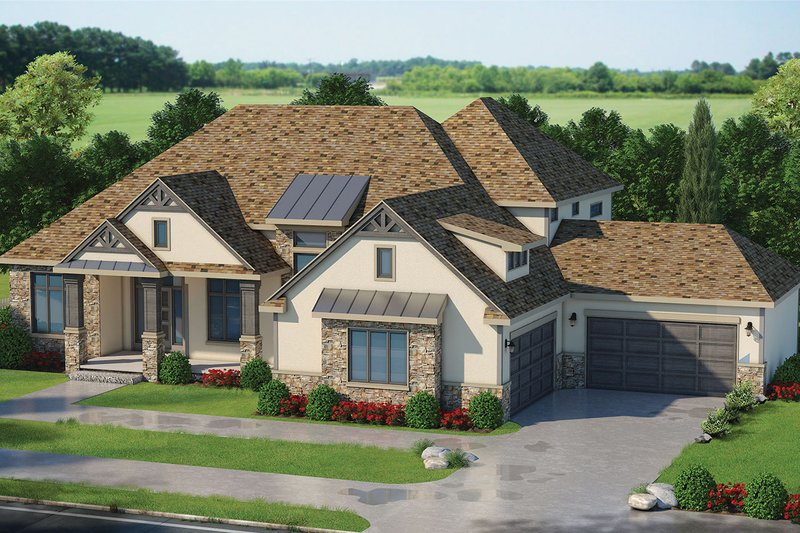 Architectural House Design - Craftsman Exterior - Front Elevation Plan #20-2337