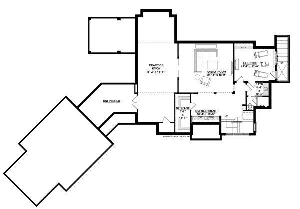 Home Plan - European Floor Plan - Lower Floor Plan #928-342