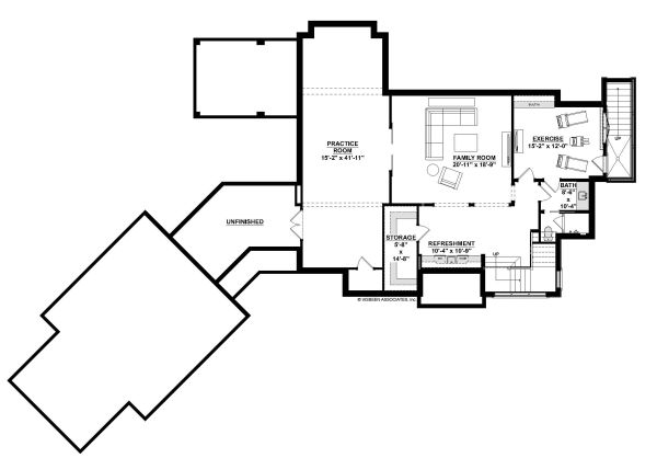 European Floor Plan - Lower Floor Plan Plan #928-342