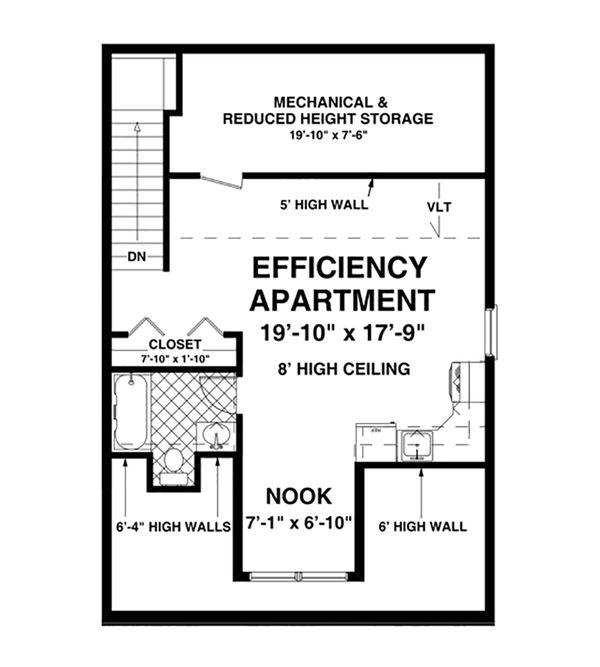 Craftsman Floor Plan - Upper Floor Plan Plan #56-612