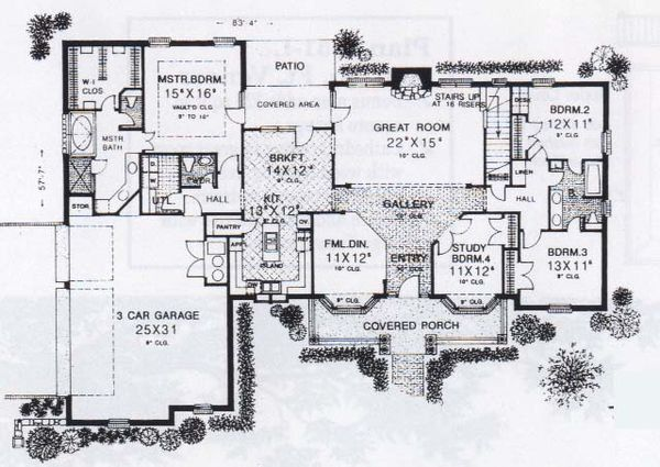 Farmhouse Floor Plan - Main Floor Plan #310-834