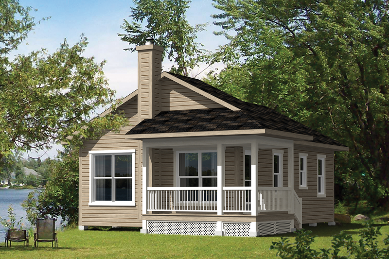 Cottage Style House Plan - 3 Beds 1 Baths 660 Sq/Ft Plan #25-4383