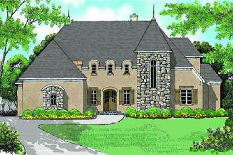 Dream House Plan - European Exterior - Front Elevation Plan #413-144
