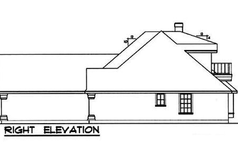 European Exterior - Other Elevation Plan #40-121 - Houseplans.com
