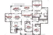 Craftsman Style House Plan - 4 Beds 3 Baths 2655 Sq/Ft Plan #63-189 Floor Plan - Main Floor Plan