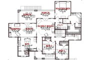 Craftsman Style House Plan - 4 Beds 3 Baths 2655 Sq/Ft Plan #63-189 Floor Plan - Main Floor